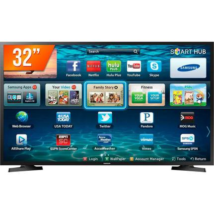 Smart TV LED 32&amp#8221 HD Samsung LH32 2 HDMI 1 USB Wi-Fi