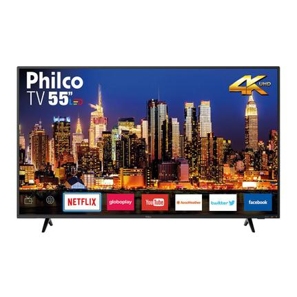 "Tv 55"" Led Philco 4k - Ultra Hd Smart - Ptv55f62sn"