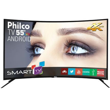 "Tv 55"" Led Philco 4k - Ultra Hd Smart - Ph55a16dsgwa"