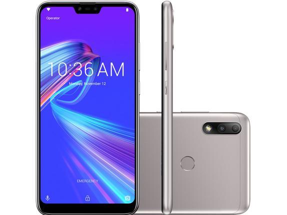 Celular Smartphone Asus Zenfone Max Plus M2 Zb634kl 32gb Prata - Dual Chip