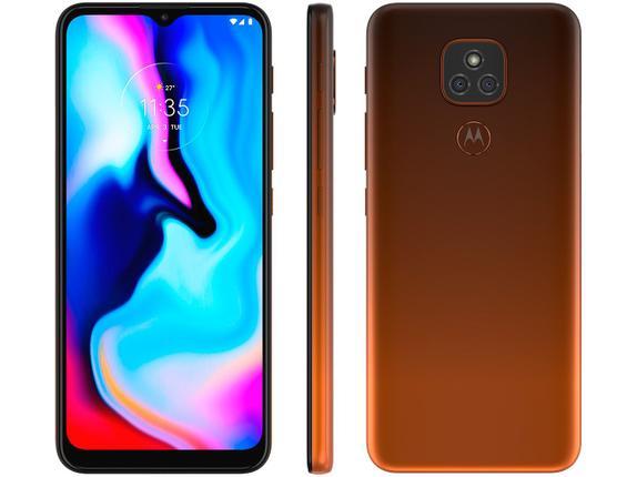 Celular Smartphone Motorola Moto E7 Plus Xt2081 64gb Bronze - Dual Chip