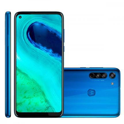 Celular Smartphone Motorola Moto G8 Xt2045 64gb Azul - Dual Chip