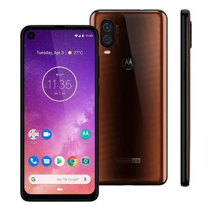 Celular Smartphone Motorola One Vision Xt1970 128gb Bronze - Dual Chip