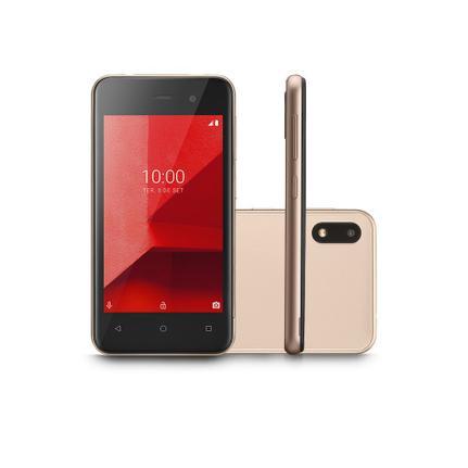 Celular Smartphone Multilaser e Lite P9100 16gb Dourado - Dual Chip