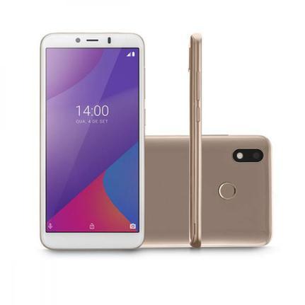 Celular Smartphone Multilaser G Max P9108 32gb Dourado - Dual Chip
