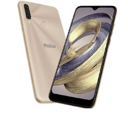 Celular Smartphone Philco Hit P10 128gb Dourado - Dual Chip