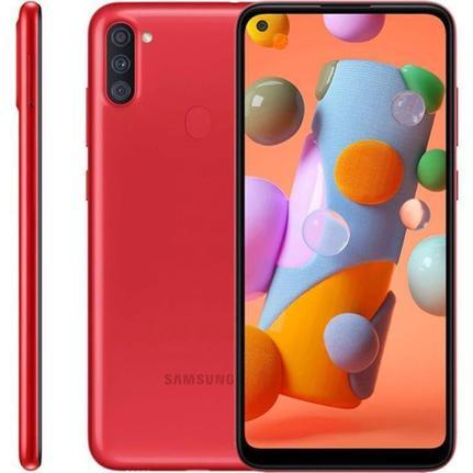 Celular Smartphone Samsung Galaxy A11 A115m 32gb Vermelho - Dual Chip