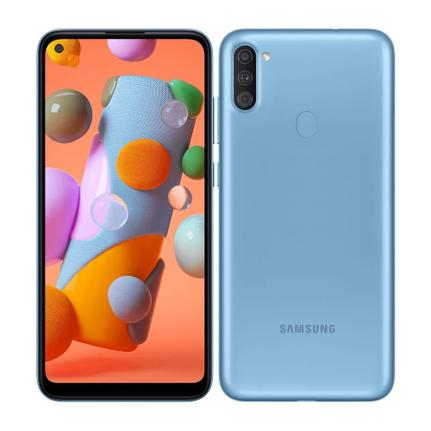 Celular Smartphone Samsung Galaxy A11 A115m 64gb Azul - Dual Chip