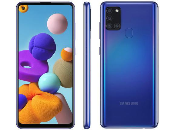Celular Smartphone Samsung Galaxy A21s A217m 64gb Azul - Dual Chip