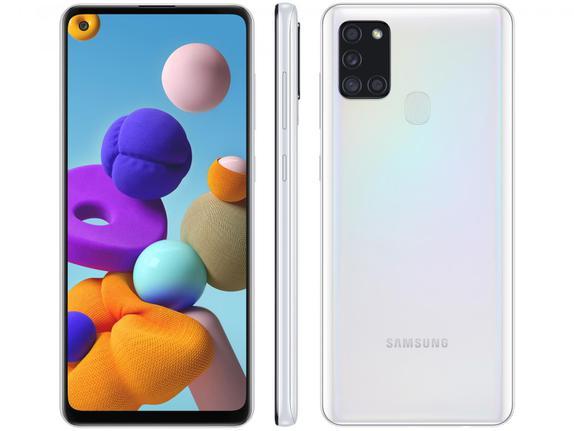 Celular Smartphone Samsung Galaxy A21s A217m 64gb Branco - Dual Chip