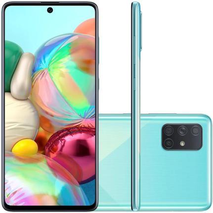 Celular Smartphone Samsung Galaxy A71 A715f 128gb Azul - Dual Chip