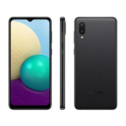 Celular Smartphone Samsung Galaxy M02 M022m 32gb Preto - Dual Chip