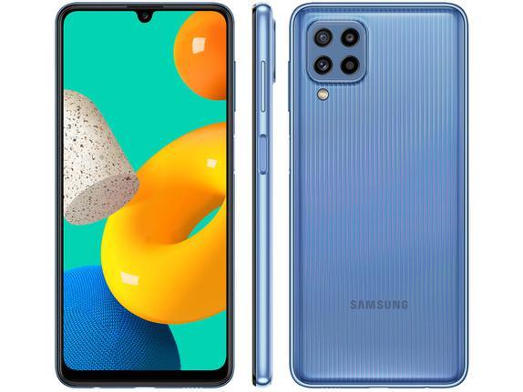 Celular Smartphone Samsung Galaxy M32 M325f 128gb Azul - Dual Chip