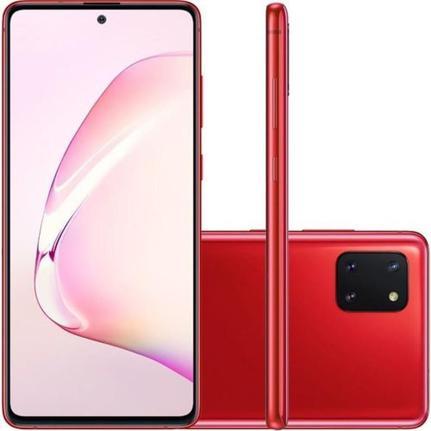 Celular Smartphone Samsung Galaxy Note10 Lite N770f 128gb Vermelho - Dual Chip
