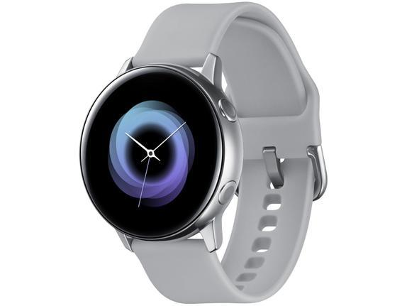 Smartwatch Samsung Galaxy Watch Active Nacional - Prata Sm-r500nzspzto 40mm
