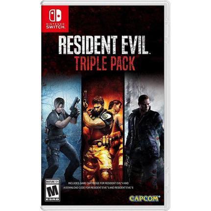 Jogo Resident Evil Triple Pack - Switch - Capcom