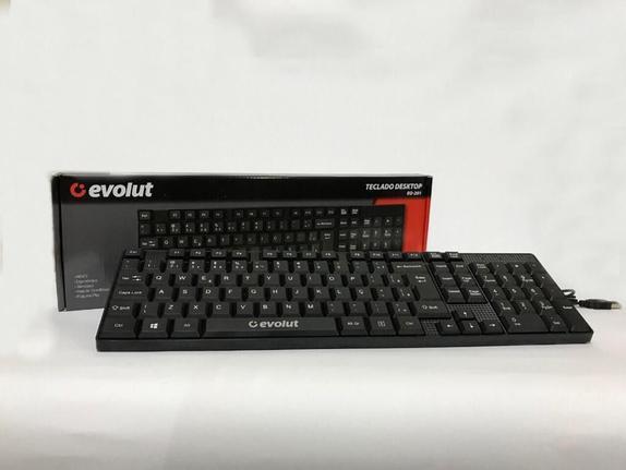 Teclado Office Eo201 Evolut
