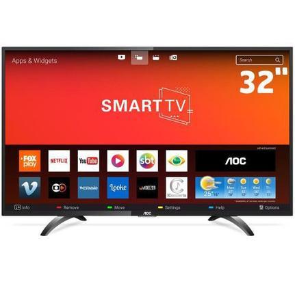 """Tv 32"""" Led AOC Hd Smart - 32s5295/78g"""