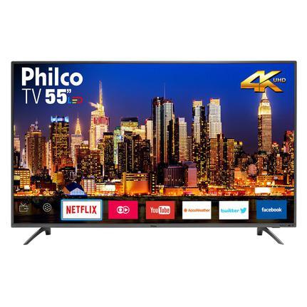 "Tv 55"" Led Philco 4k - Ultra Hd Smart - Ptv55f61snt"