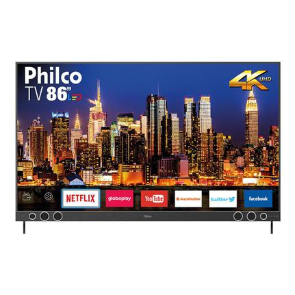 "Tv 86"" Led Philco 4k - Ultra Hd Smart - Ptv86p50snsg"