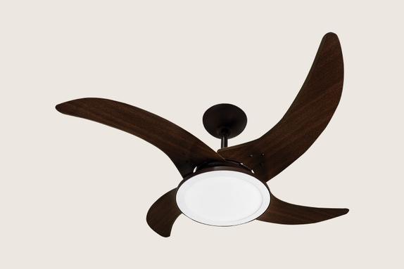 Ventilador de Teto Tron Mareiro Led 4 Pás Marrom Café 130w 127v