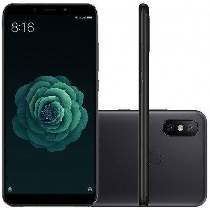xiaomi mi a2 dual android one tela 5 99 64gb camera dupla 12+20mp - preto