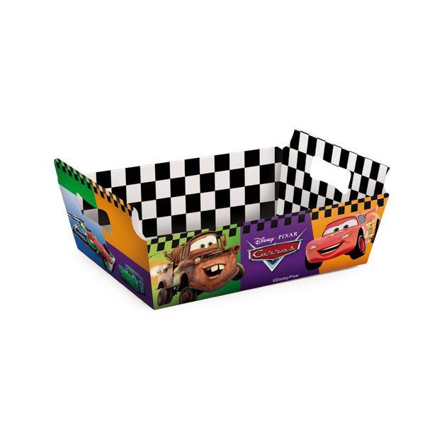 Imagem de 10 Cesta Caixote Organizadora Papel Cartao Carros Disney Festa