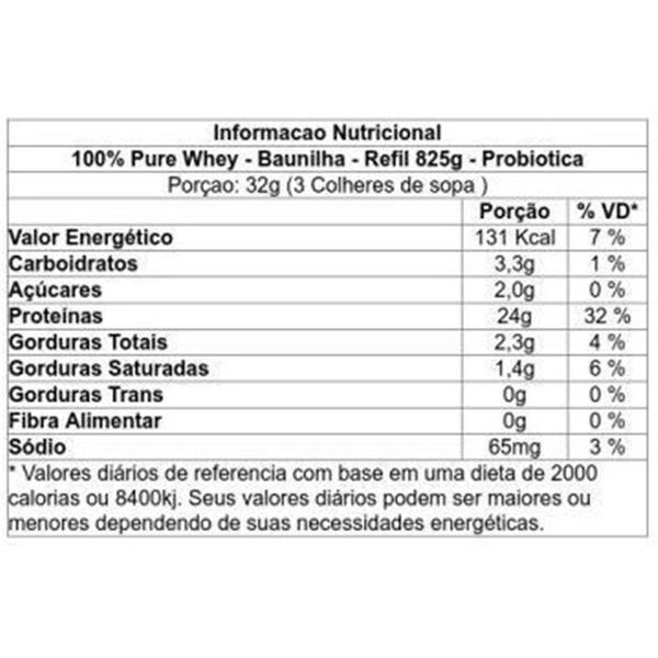 Imagem de 100% Pure Whey 825g Refil Probiotica