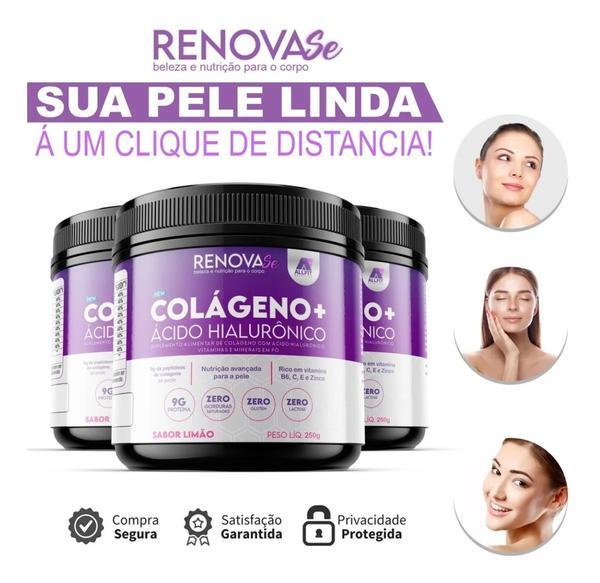 Imagem de Ácido Hialurônico + Colágeno Hidrolisado 3 Potes Renova-se - Allfit Nutrition
