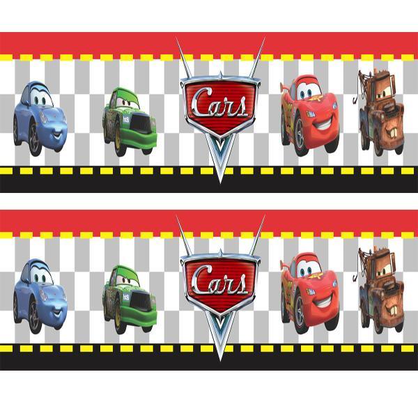 Imagem de Adesivo de Parede Faixa Decorativa Para Quarto Infantil Cars Carros