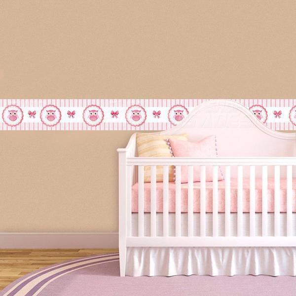 Imagem de Adesivo de Parede Faixa Decorativa Para Quarto Infantil Corujinha