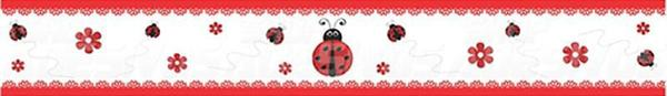 Imagem de Adesivo de Parede Faixa Decorativa Para Quarto Infantil Joaninha