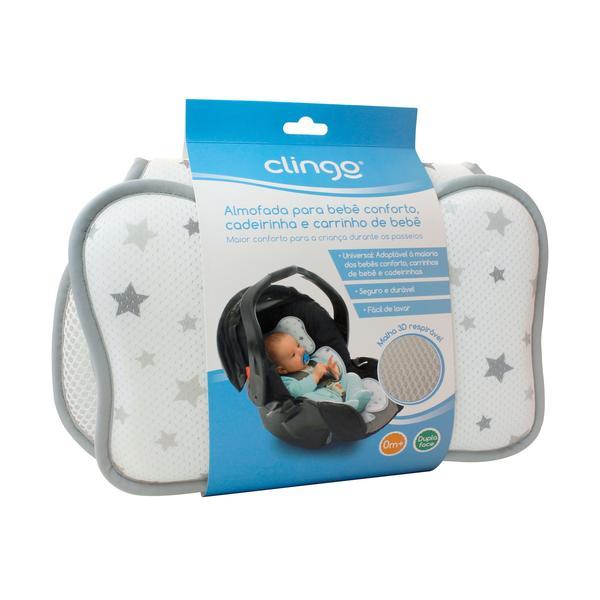 Imagem de Almofada para Bebe Conforto Azul - Clingo