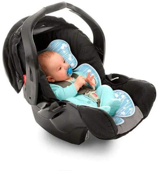 Imagem de Almofada para bebê conforto, carrinho e cadeirinha, Clingo, Azul
