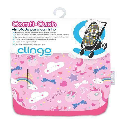 Imagem de Almofada Para Carrinho Bebê Comfi-cush Sparkles Clingo