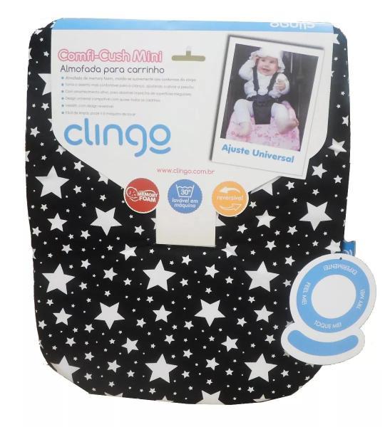 Imagem de Almofada Para Carrinho Mini Memory Foam Stars - Clingo