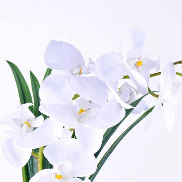Imagem de Arranjo de Orquídea Artificial Branca Brisa da Noite