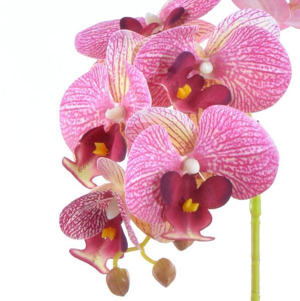 Imagem de Arranjo de Orquídea Artificial Rosa em Vaso Branco Clara