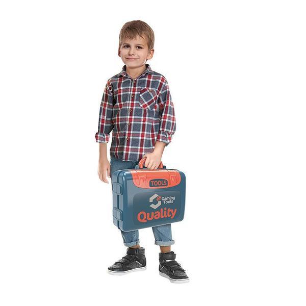 Imagem de Bancada de ferramentas infantil maleta 3 em 1 construções oficina - 9011m - Mega Compras