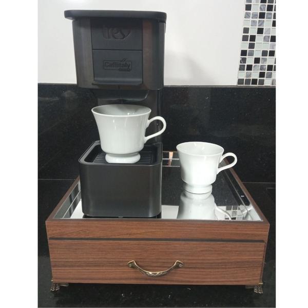 Imagem de Bandeja de máquina de café Três Corações espelhada com gaveta