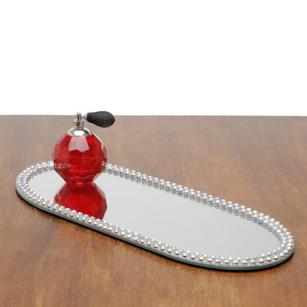 Imagem de Base, Suporte 20 cm com espelho e acrílico oval Hills Prestige - 2874