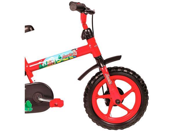 Imagem de Bicicleta Infantil Aro 12 Verden Jack - Vermelha e Preta com Rodinhas