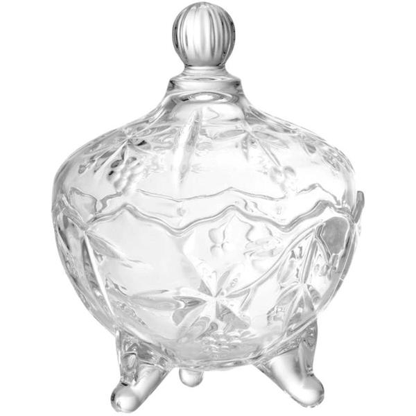 Imagem de Bombonieri com tampa e pé de vidro transparente - lyor