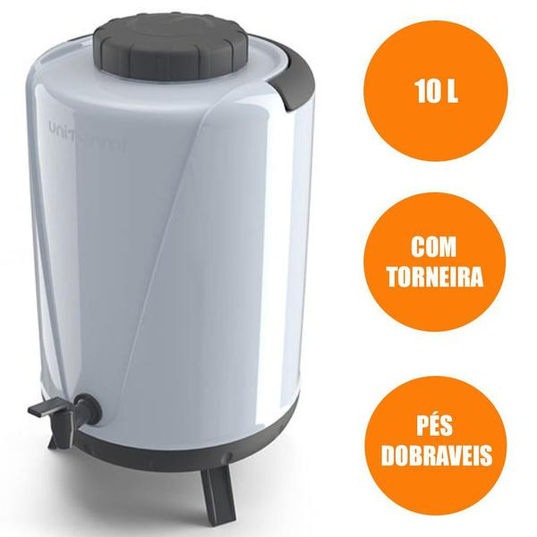 Imagem de Botijão térmico  com torneira 10,0l - unitermi