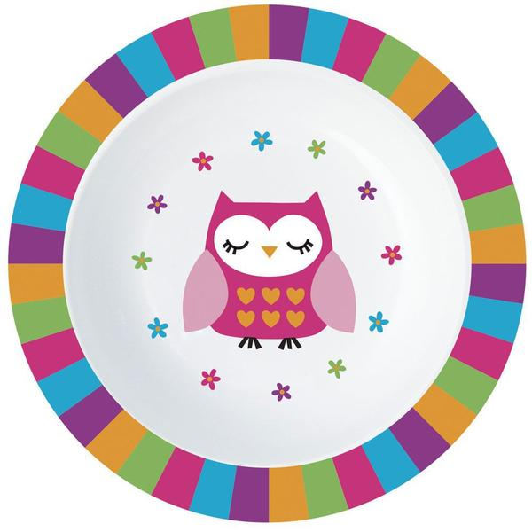 Imagem de Bowl de Alimentação Infantil - Rosa - Corujinha - Minimi