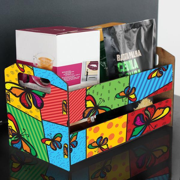 Imagem de Caixote de Feira Organizador M - Borboleta