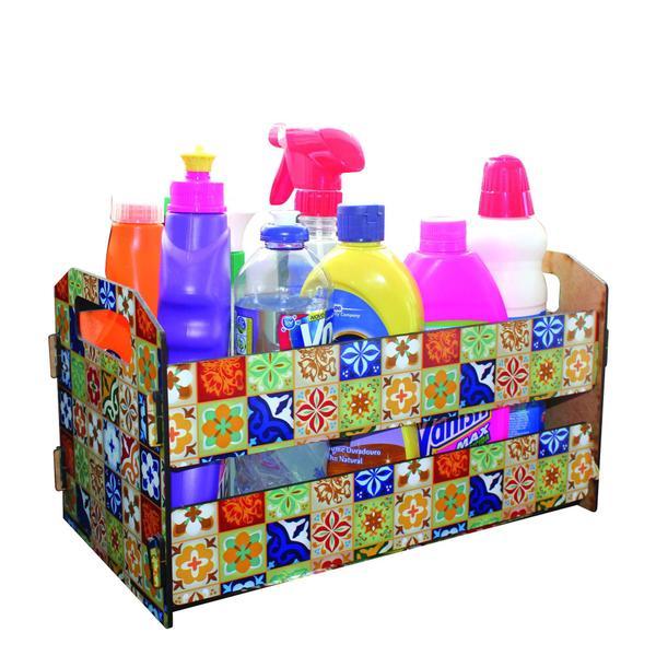 Imagem de Caixote de Feira Organizador M - Ladrilhos Coloridos