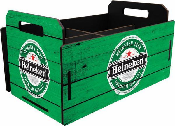 Imagem de Caixote MDF Pequeno Temático Cerveja Garrafa Verde 10x18x11