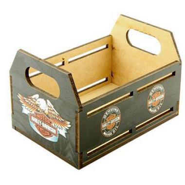 Imagem de Caixote Porta Cerveja Adesivado Harley Davidson