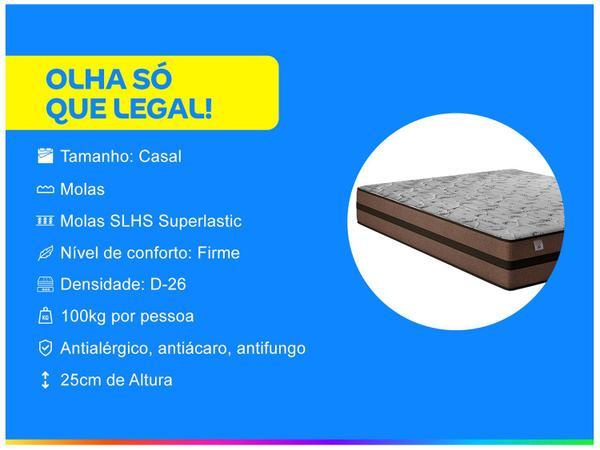 Imagem de Cama Box Casal (Box + Colchão) Plumatex Mola - 62cm de Altura